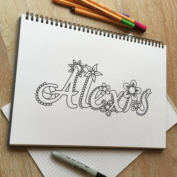 Página para colorear adultos Alexis. Página para colorear para