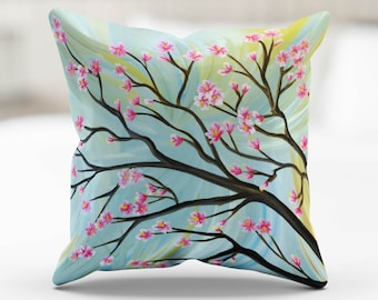 Pillow Cover - Cherry Blossoms from Original Painting