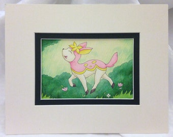 "Deerling Original Fan Art- Pre-matted to 8""x10"""