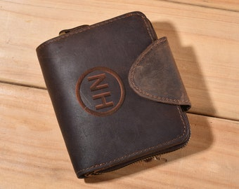 Mens Wallet,Personalized Wallet,Engraved Mens Wallet,Leather Wallet,Gift For Men,Monogram Wallet,Fathers Day,Christmas Gift,Mens,mens gifts