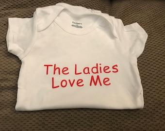 The Ladies Love Me Tee/Bodsuit