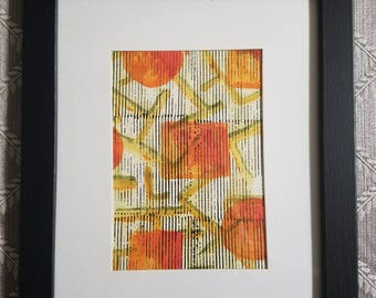 "Original Watercolor & Mixed Media Painting - ""The Orange Tree"""
