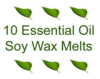 ESSENTIAL OIL Wax Melts - Soy Tarts - Choose 3 fragrances - Soy Wax Melts - 10 Clamshell Soy Tarts - Clamshell Tarts - Dye Free Soy Tarts