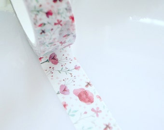 Pretty Poppy Washi Tape Floral Flowers Stationery Masking Deco Tape