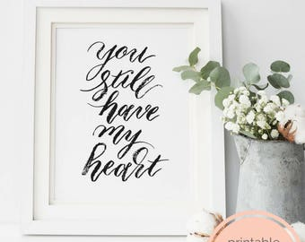 Printable Wall Art- Wedding Anniversary Gift DIY, Husband Gift for Wife, Last Minute Gift, One Year Anniversary, Valentines Day