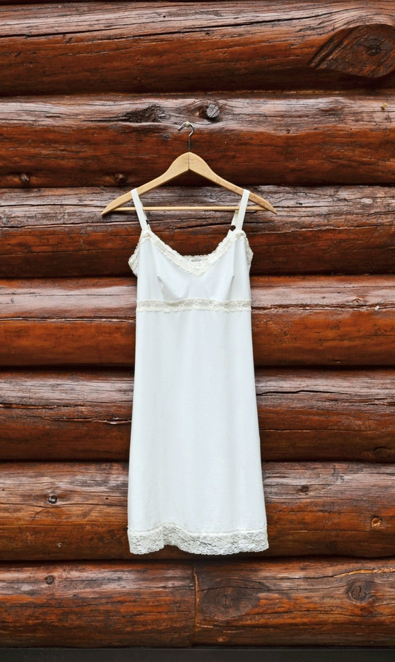 Organic Full Slip Off White Organic Cotton Natural Lingerie W