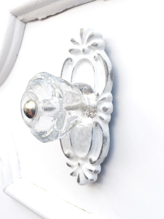 Crystal Drawer Knobs Pulls Handle Silver Chrome Clear Glass