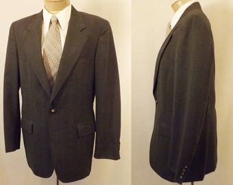 70's Cricketeer Gray Chalk Stripe Men's Sport Coat Size 38 / 40