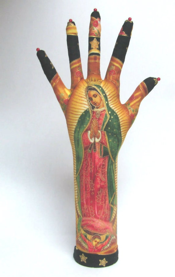 TALL Our Lady Guadalupe Star HAND-Stand ~ Jewelry Display ~ Ready to Ship