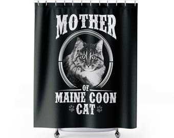 Maine Coon Cat Funny Mainecoon Shower Curtains