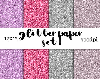 Glitter Digital Paper Set 1 - Digital Download