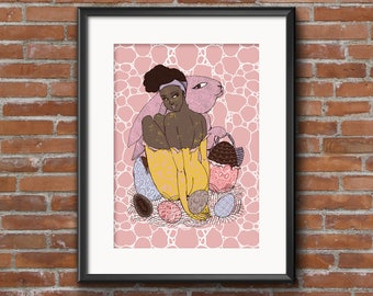 Chocolate digital art // 8.5x11in, 12x16in // Limited edition