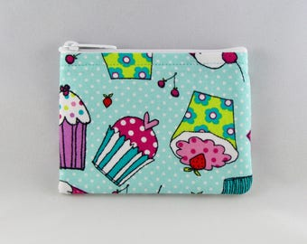 Copious Cupcake Coin Purse - Coin Bag - Pouch - Accessory - Gift Card Holder