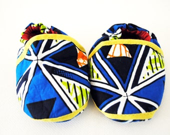 Soft Handmade African Ankara Baby Shoes Baby Booties Crib Shoes