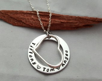 Gift For Mom, Hand stamped jewelry for her, Custom Necklace, Mom necklace, Gift For Grandma, Personalized Jewelry, Mothers Day Gift