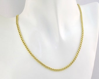 Solid 14K Yellow Gold Curb Link Necklace. 50.5CM X 4.8MM. 31.20G