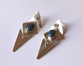PRINCESS Silver and Lapis Lazuli Earrings