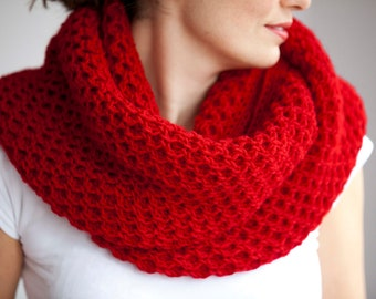 Red Infinity Scarf   Christmas Gift