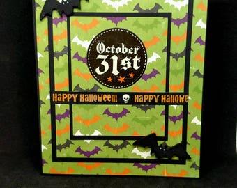 Bats, Bats and more Bats Halloween card