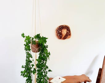 "62"" length Macrame plant hanger / hanging plant holder / Vertical planter / Vertical garden"