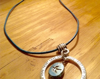 Message necklace, Hope, Trust, Love