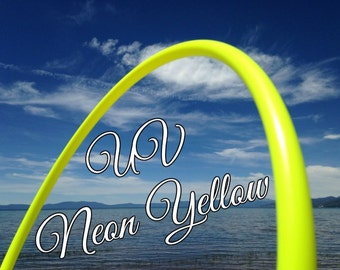 """UV Neon Yellow Colored 3/4"""" or 5/8"""" PolyPro Hula Hoop - You pick the size - by Colorado Hula Hoops"""