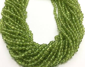 Natural Peridot Plain Round Beads, Smooth Round Beads, 4mm, 13 inches, Green Beads, Gemstone Beads, Semiprecious Stone Beads