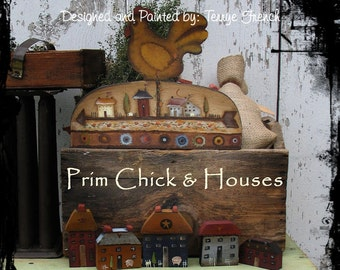 PRiM Chicks and Houses, Terrye French, pattern packet email