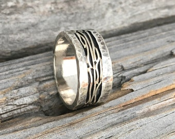 Sterling Silver Gold Ring Handmade Ring By Wild Prairie Silver Jewelry