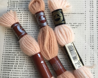 Vintage French DMC wool yarn for embroidery , crochet , needlework . Wool yarn for scrapbooking and craft