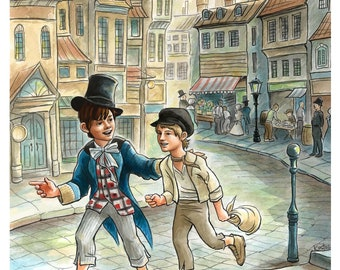 Oliver Twist greeting cards set
