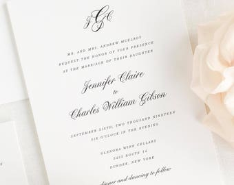 Jennifer Wedding Invitations - Sample