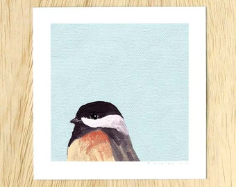 Too Often Guilty Of Yielding To Suggestibility 5 x 5 Art Print - Bird - Chickadee - Giclee - Gift - Mincing Mockingbird - Animal - Nature