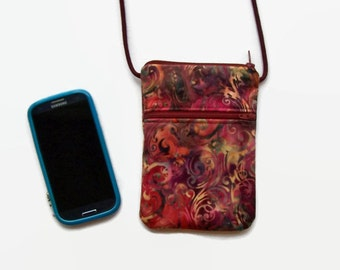 Smartphone Hipster,  Cell Phone Purse, Cross Body Hipster, Cross Body Purse, Small Purse
