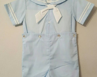 Vintage Classic Baby Blue Sailor Suit with White Tie - All sizes - New, never worn