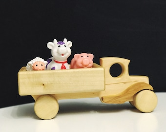 Wooden Toy Truck - Big Truck - Natural Wood Toy - Eco Friendly Car - Gift for Child - Farm Truck - Baby Toy - Birthday Gift - Baby Gift