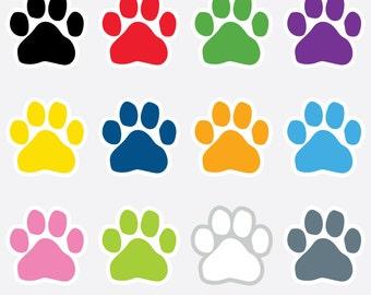 paw print cliparts pet clip art dog cat paws print clipart rh etsy com pet clipart images pet clip art free