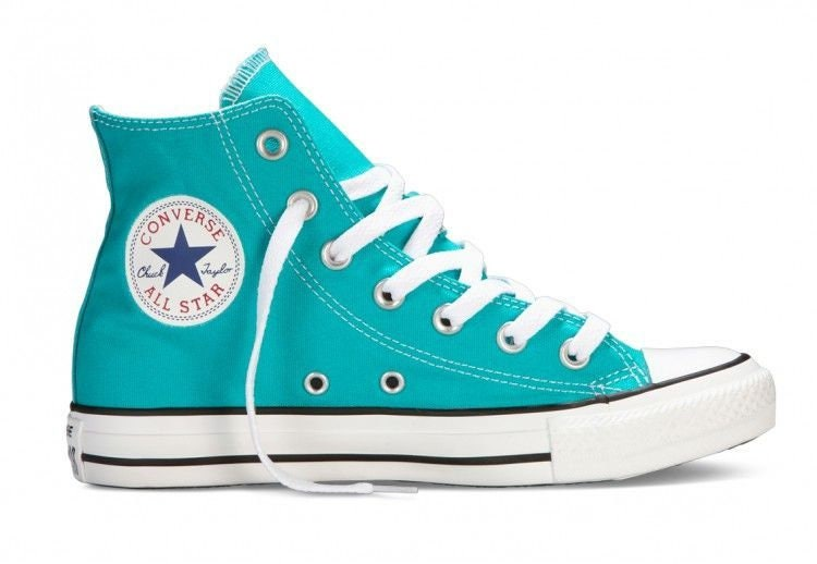 cfd9f8bc24f4 Turquoise Blue Converse High Top Ladies GlassSlippers w  Swarovski Crystal  Rhinestone Teal Wedding Chuck Taylor All Star Bride Sneakers Shoe
