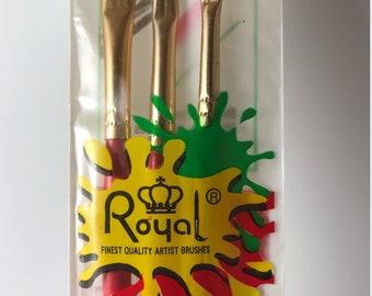 Artist Paint Brush Set, Shader Brush Set, Natural Hair Brushes, Flat Brushes, Craft Brushes, Face Paint Set,
