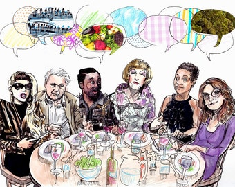 Guess Who's Coming to Dinner - Original illustration