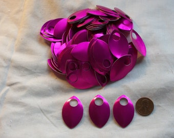 Dragon Scales - Aluminum - Large - Pink - Sets of 100