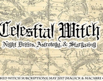 Wicked Witch Subscription Box: Monthly Wiccan/New Age Goodies to your door- Wiccan, Witch, Goth, New Age, & Pagan! May 2018- Celestial Witch