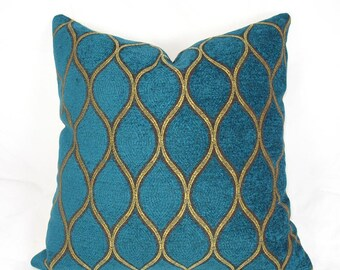 Iman - Tourmaline Teal Velvet - Decorative Pillow Cushion Cover - Accent Pillow - Throw Pillow