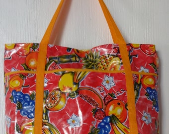 Beachstarting oil cloth bag