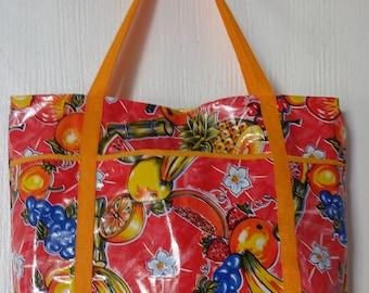 Beachstarting oil cloth bag