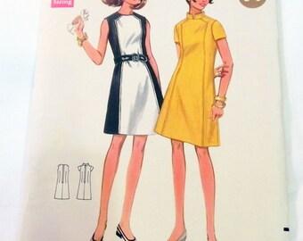 "1960s Mod A Line Sundress Dress sewing pattern Butterick 4795 Size 12 Bust 34"" or Size 16 Bust 38"""