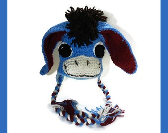 Inspired by Eeyore, Donkey Hat, Toddler, Child, Teen, Adult  Made to Order V5759