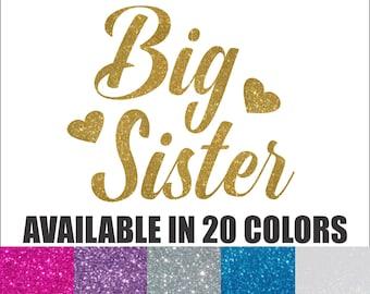 Big Sister Iron On, Sisters Iron On, New Big Sister Iron On, New Baby, Little Sister, Big Sister Glitter Iron On, Big Sister Shirt