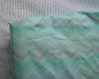 Mint Chevron Changing Pad Cover