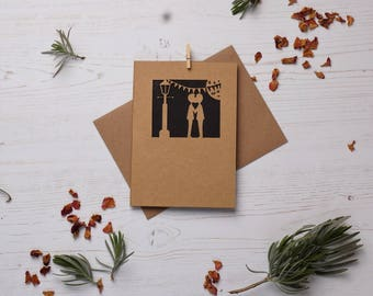 Gay Valentine Card. Paper cut card, Card, LGBT Card, His and his card, , Mr and mr card, Gay Greeting Card, Gay Love Cards, FREE P&P!